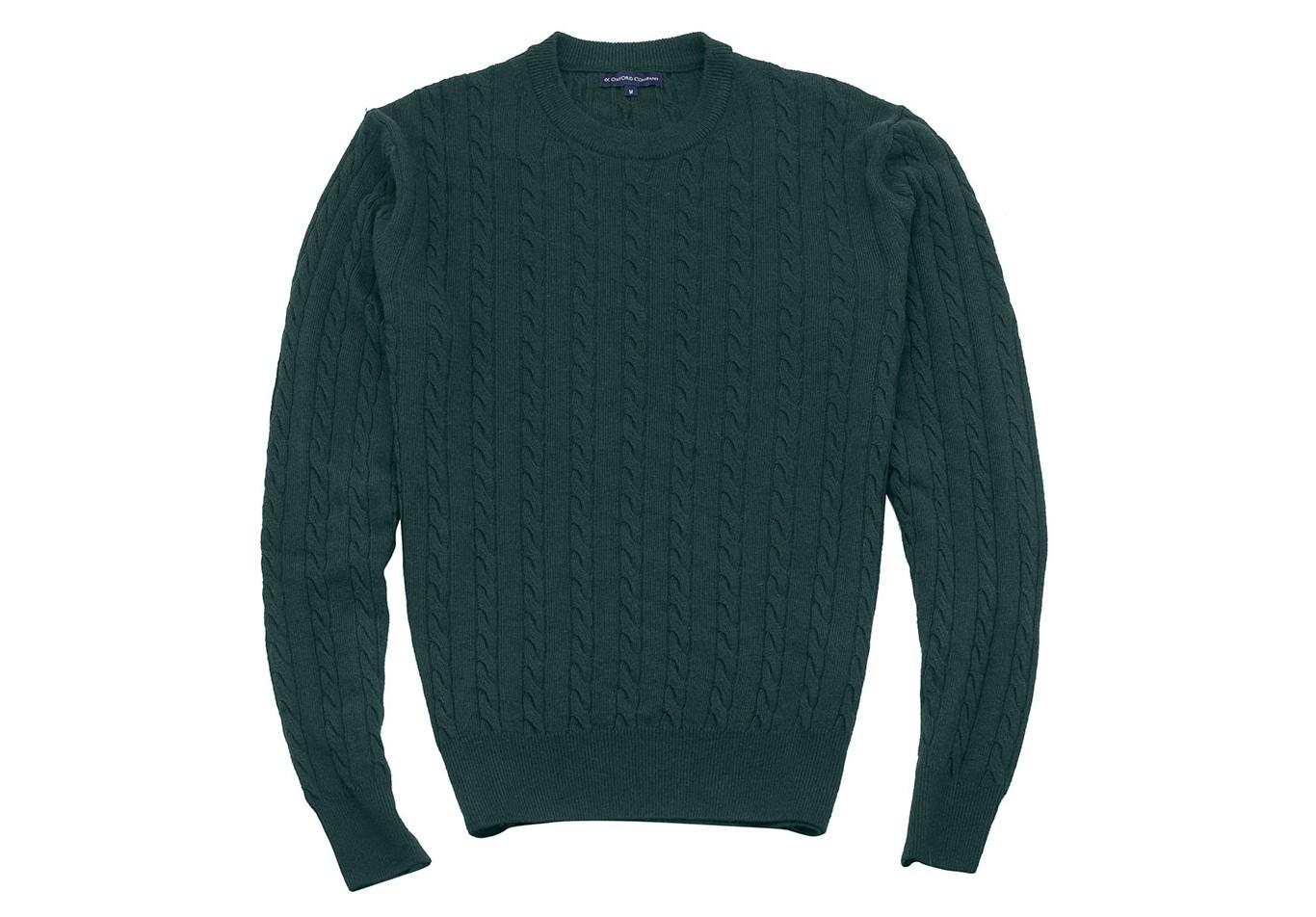 Πλεκτό Regular Fit Πράσινο Σκούρο  6bfc95f0b46