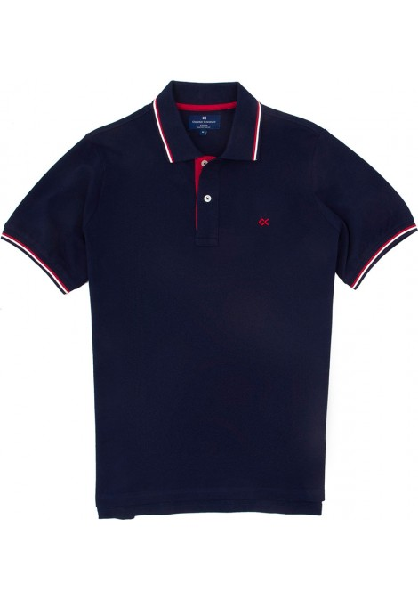 Stock Polo Κοντό Μανίκι Regular Fit Μπλε σκούρο