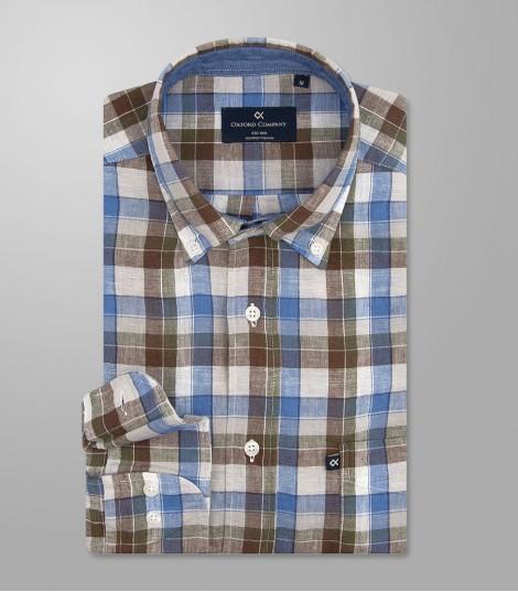 Stock Sport Shirt Regular Fit Button Down-Basic