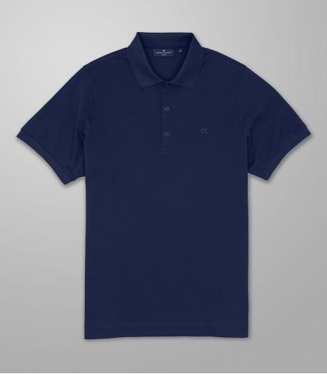 Polo Κοντό Μανίκι Regular Fit Μπλε Σκούρο