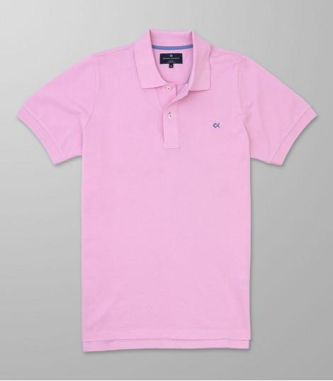 Polo Κοντό Μανίκι Regular Fit Ροζ