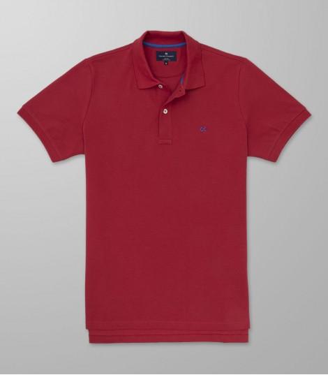 Polo Κοντό Μανίκι Regular Fit Κόκκινο