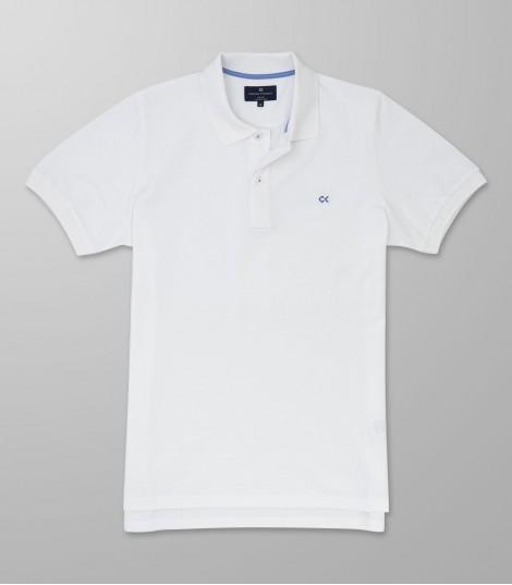 Polo Κοντό Μανίκι Regular Fit Λευκό