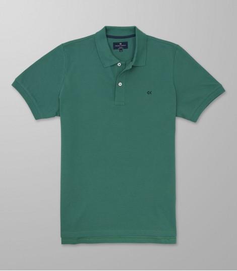 Polo Κοντό Μανίκι Regular Fit Πράσινο