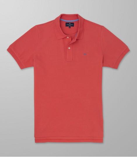 Polo Κοντό Μανίκι Regular Fit Πορτοκαλί