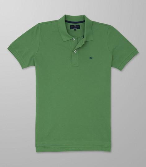 Polo Κοντό Μανίκι Slim Fit Πράσινο