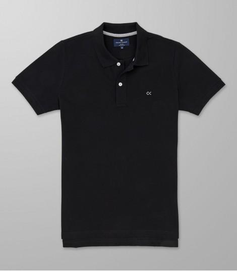 Polo Κοντό Μανίκι Slim Fit Μαύρο