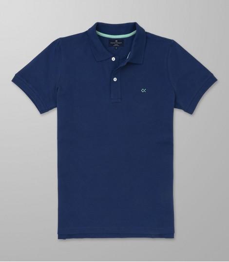 Polo Κοντό Μανίκι Slim Fit Μπλε