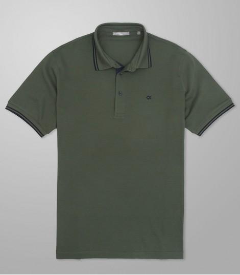 Stock Polo Κοντό Μανίκι Custom Fit Λαδί