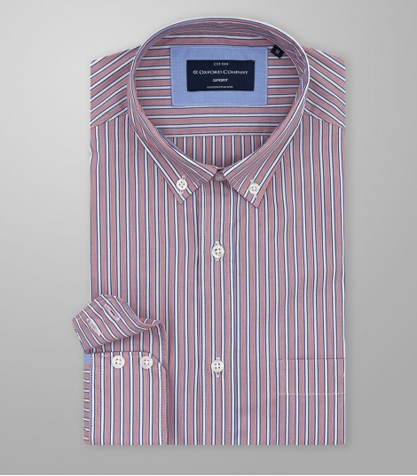 Stock Sport Shirt Slim Fit Button Down