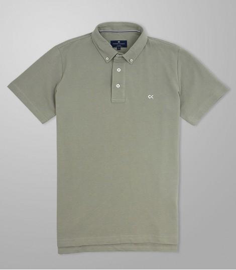Stock Polo Κοντό Μανίκι Slim Fit Λαδί