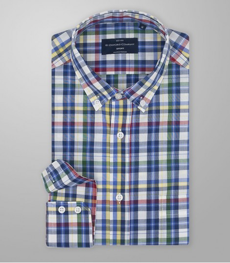 Stock Sport Shirt Slim Fit Button Down