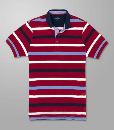 Polo Κοντό Μανίκι Regular Fit Ριγέ
