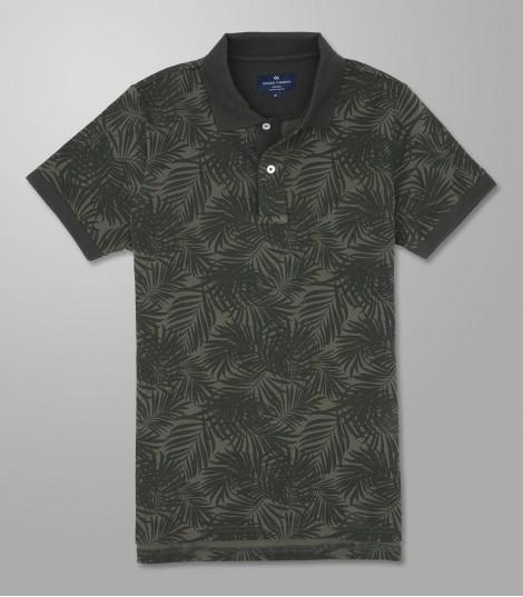 Stock Polo Κοντό Μανίκι Slim Fit Πράσινο Σκούρο