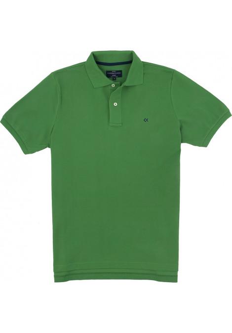 Polo Κοντό Μανίκι Regular Fit Πράσινο Ανοιχτό