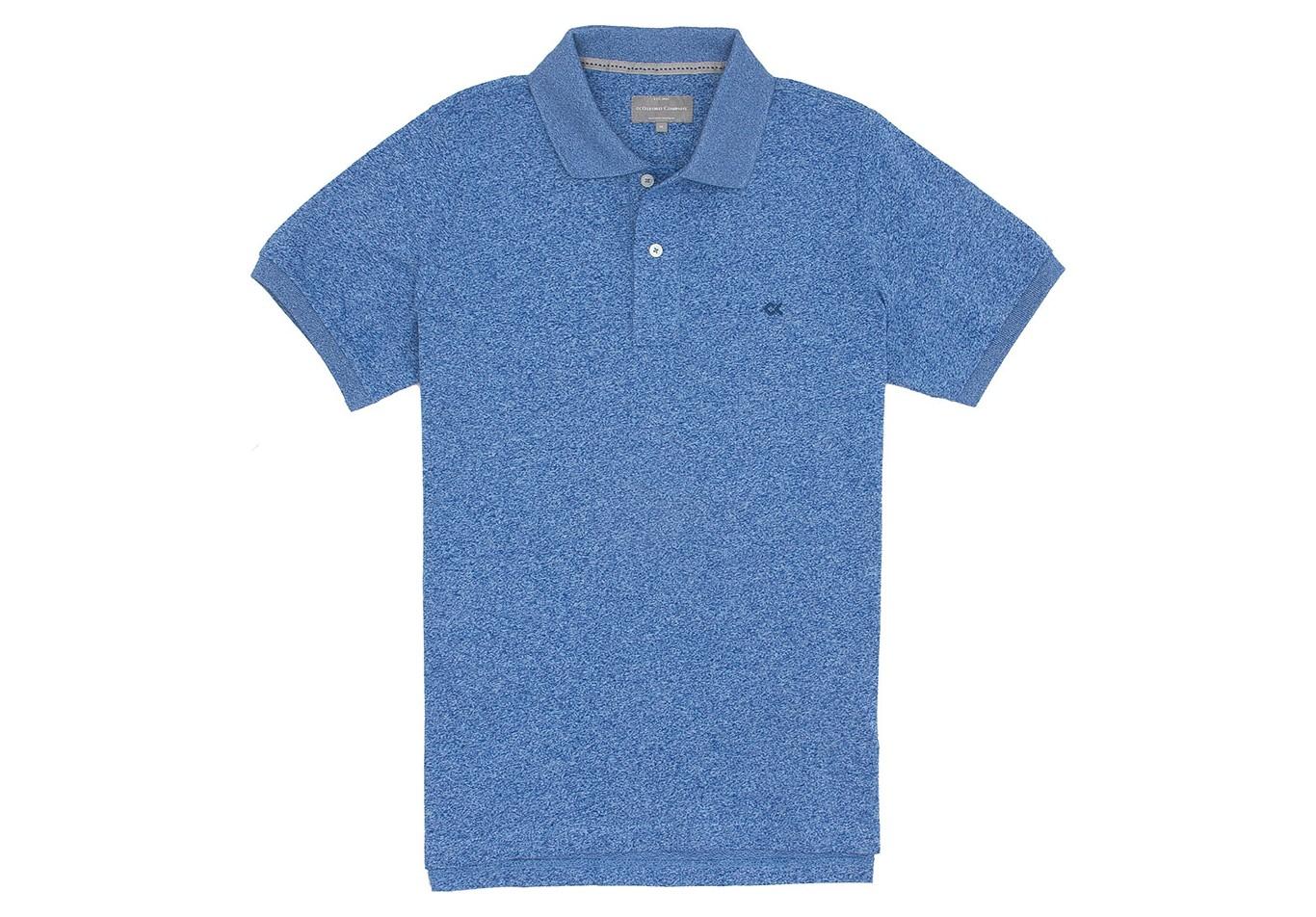 Stock Polo Κοντό Μανίκι Custom Fit Μπλε Ανοιχτό  07105196bdd